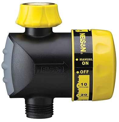 Nelson 56600 Automatic Water Shut Off Timer, Black/Yellow