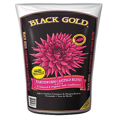 Black Gold 1490302 Earthworm Casting Soil Conditioner, 8 qt.