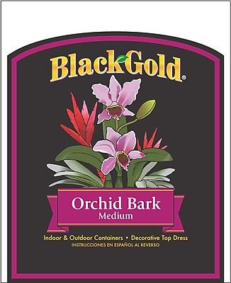 Black Gold 1411402 Orchid Bark Medium Fertilizer, 8 qt.