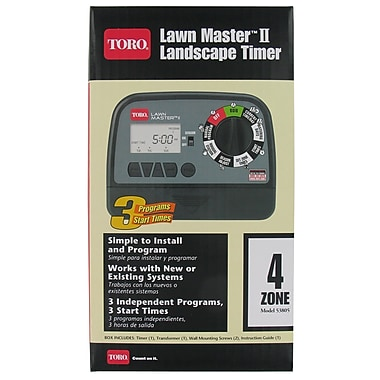 Toro 53805 Lawn Master II Landscape Black Timer, 4 Zone