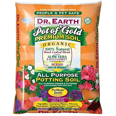 Dr. Earth 728 Natural and Organic Potting Soil Fertilizer, 1.5 cu. ft.
