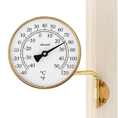 Conant Custom Brass T6LFB Dial Thermometer