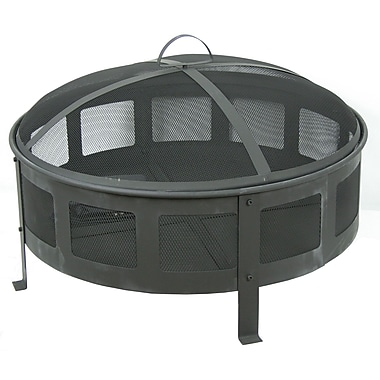 CobraCo FB6540 Round Bravo Classic Black Finish Fire Pit