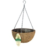"Gardnam R490 14"" Woven Rope Hanging Basket, Brown"
