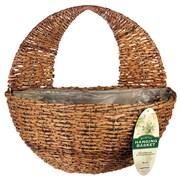 Gardman R496 Rustic Rattan Wall Basket, Brown