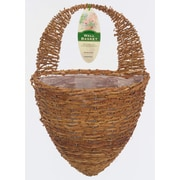 "Gardman R299 12"" Half Hive Rustic Rattan Wall Basket"