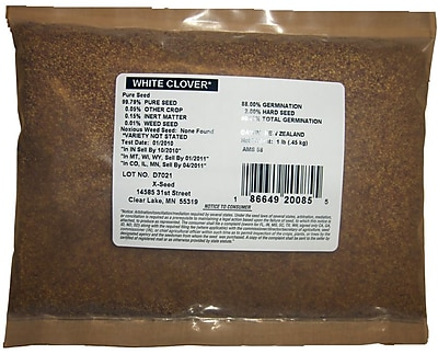 X-seed 20085 Pasture Land White Clover Forage Mixture, 1 lbs.