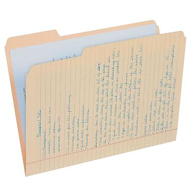 Find It® Letter 1/3 Cut File Folder Note Pad, Manila