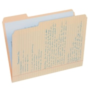 Find It® Letter 1/3 Cut File Folder Note Pad, Manila