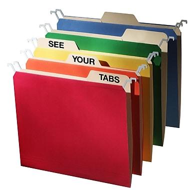 Find It - Chemises suspendues à onglet, format lettre, couleurs variées, 20/paquet (FT07376)
