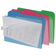 Find It® Letter Clear View Interior File Folder, Assorted, 6/Pack