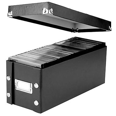 Snap-N-Store® CD Media Storage Box, Black