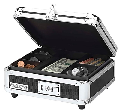 Vaultz Locking Cash Box, Black