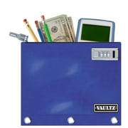 "Vaultz® 8"" x 9 1/2"" Locking Binder Pouch, Blue"