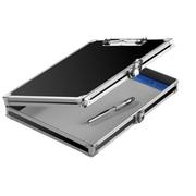 Vaultz – Planchette à pince verrouillable avec rangement, 8 1/2 x 11 po, noir (VZ00633)