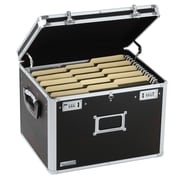 Vaultz® Aluminum Locking File Chest, Letter/Legal, Black
