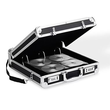 Vaultz 200 Capacity Locking Media Binder, Black (VZ00637)
