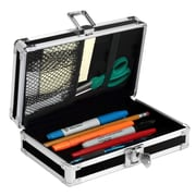 "Vaultz® 2 1/4"" x 8 1/4"" Locking Pencil Box, Black"