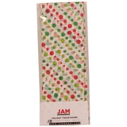 JAM Paper® Christmas Holiday Tissue Paper, Red and Green Christmas Dots, 40/Pack (11824293g)