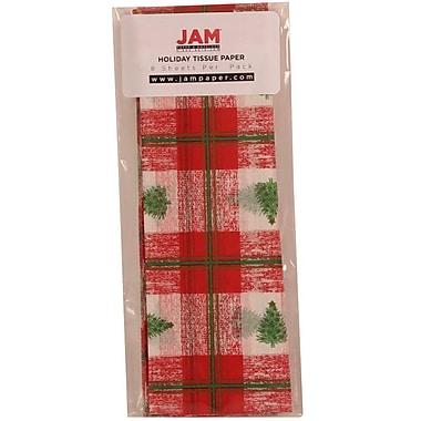 JAM Paper MD – Papier de soie des fêtes, arbre de Noël écossais, 40/paquet (21186447G)