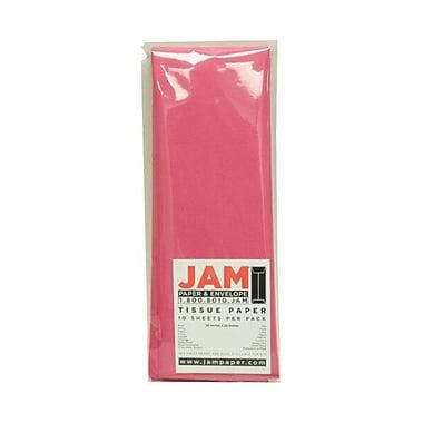 JAM Paper® Tissue Paper, Fuchsia Pink, 10 packs of 10 (1152351g)