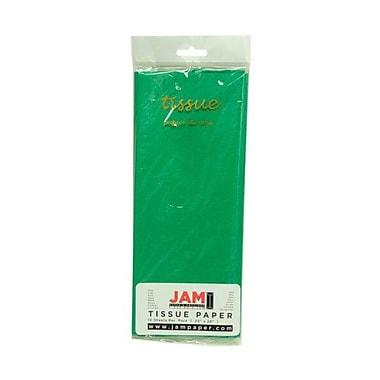 JAM Paper® Tissue Paper, Green, 10 packs of 10 (1152352g)