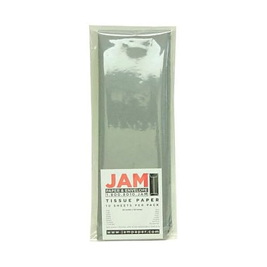 JAM Paper® Tissue Paper, Grey, 10 packs of 10 (1152357g)