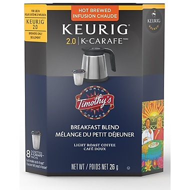 Timothy's Breakfast Blend K-Cup Carafe