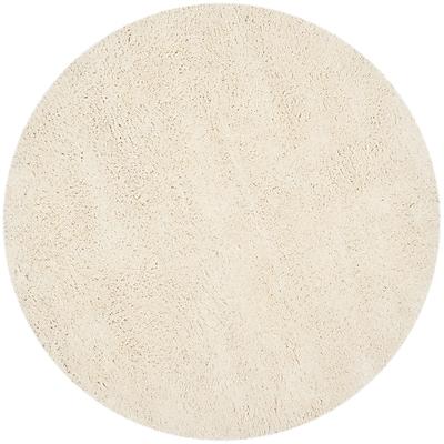 Safavieh Classic Shag Round Area Rug, 4' x 4', White