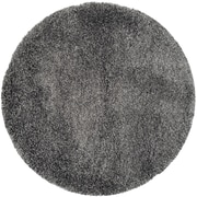 Safavieh California Shag Round Area Rug, 4' x 4', Dark Grey (SG151-8484-4R)