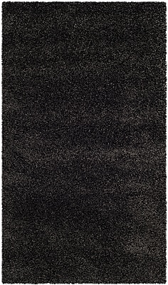 Safavieh Milan Shag Small Rectangle Area Rug, 4' x 6', Dark Gray