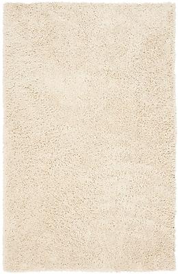Safavieh Classic Ultra Shag Medium Rectangle Area Rug, 6' x 9', White