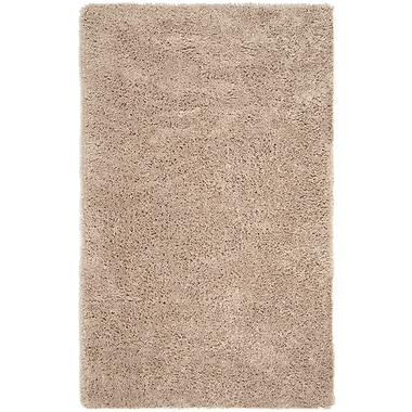 Safavieh Classic Ultra Shag Medium Rectangle Area Rug, 5' x 8', Taupe