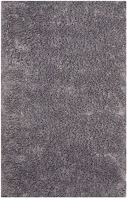 Safavieh Classic Ultra Shag Medium Rectangle Area Rug, 6' x 9', Gray