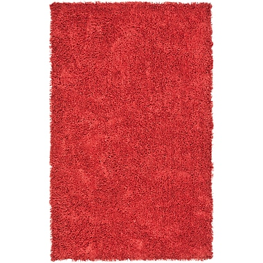 Safavieh Classic Ultra Shag Small Rectangle Area Rug, 3' x 5', Rust