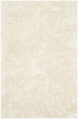 Safavieh Classic Ultra Shag Medium Rectangle Area Rug, 5' x 8', Ivory