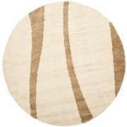 "Safavieh 6' 7"" x 6' 7"" Willow Shag Round Area Rugs"
