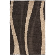 "Safavieh Florida Shag Area Rug, 48"" x 72"", Dark Brown/Beige (SG451-2813-4)"