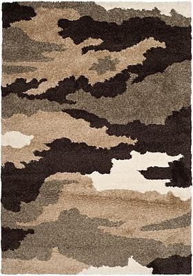 Safavieh Camouflage Shag Rectangle Area Rug, 4' x 6', Beige/Multi