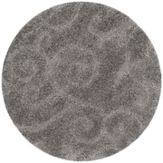 "Safavieh Florida Shag Area Rug, 80"" x 80"", Grey (SG455-8013-7R)"