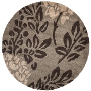 Safavieh Florida Ruby Shag Round Area Rug, 4' x 4', Smoke/Dark Brown