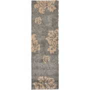 "Safavieh Florida Megan Shag Runner Area Rug, 2' 3"" x 7', Gray/Beige"