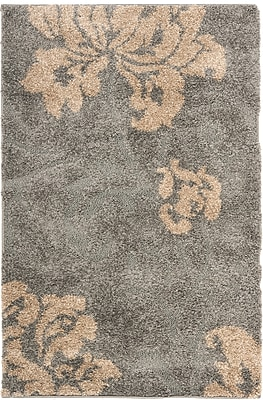 Safavieh Florida Megan Shag Large Rectangle Area Rug, 8' x 10', Gray/Beige