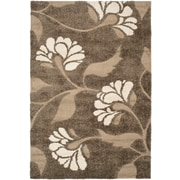 "Safavieh Florida Lindsay Shag Medium Rectangle Area Rug, 5' 3"" x 7' 6"", Smoke/Beige"