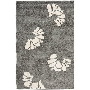 Safavieh Florida Lindsay Shag Small Rectangle Area Rug, 4' x 6', Gray/Beige