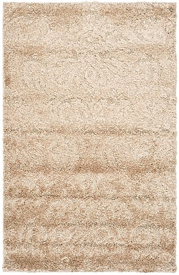 Safavieh Florida Kelly Shag Large Rectangle Area Rug, 8' x 10', Beige/Cream