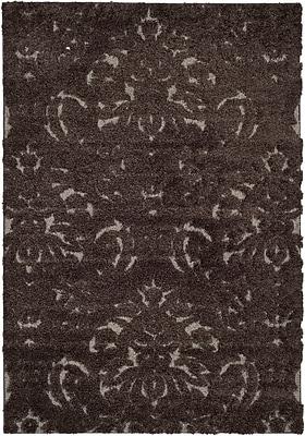 Safavieh Florida Kelly Shag Small Rectangle Area Rug, 4' x 6', Dark Brown/Smoke