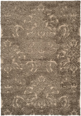 Safavieh Florida Kelly Shag Small Rectangle Area Rug, 4' x 6', Smoke/Beige
