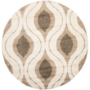 Safavieh Florida Joss Shag Round Area Rug, 5' x 5', Cream/Smoke