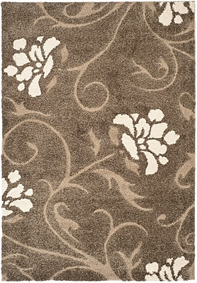 Safavieh Florida Erica Shag Large Rectangle Area Rug, 8' x 10', Smoke/Beige